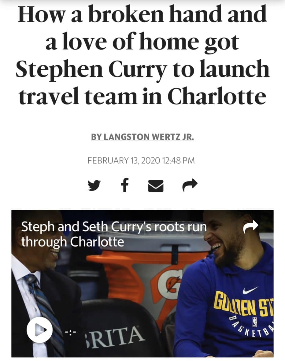 Pro Skills Basketball Team Curry Charlotte Observer